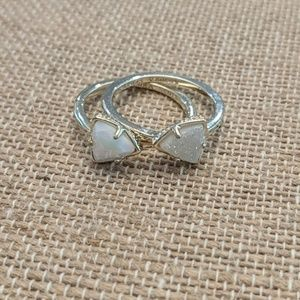 Kendra Scott Stackable Ring. White Drusy. Size 7.